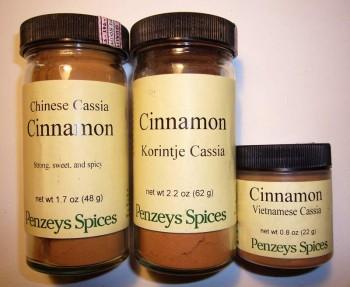 Penzey's Cassia Cinnamon Varieties